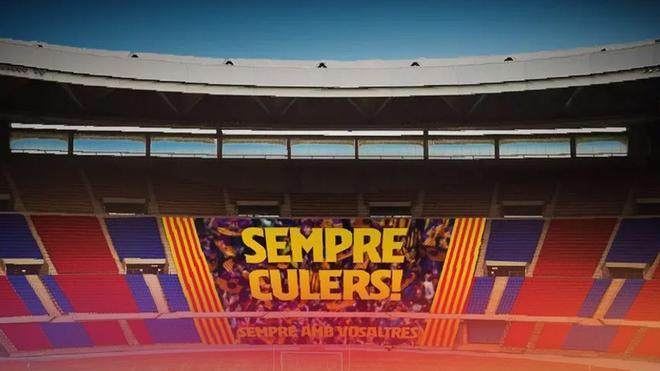 La pancarta que lucirá en el Estadio de La Cartuja