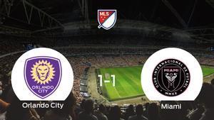 El Orlando Cityy el Inter de Miamise reparten los puntos y empatan 1-1