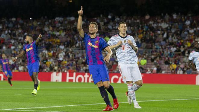 El 1x1 del Barça al descanso