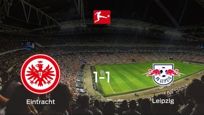 El Eintracht Frankfurt salva un punto ante el RB Leipzig (1-1)
