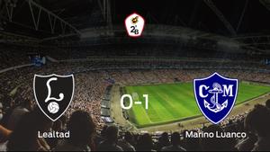 El Marino Luanco vence 0-1 al Lealtad Villaviciosa en el Les Caleyes