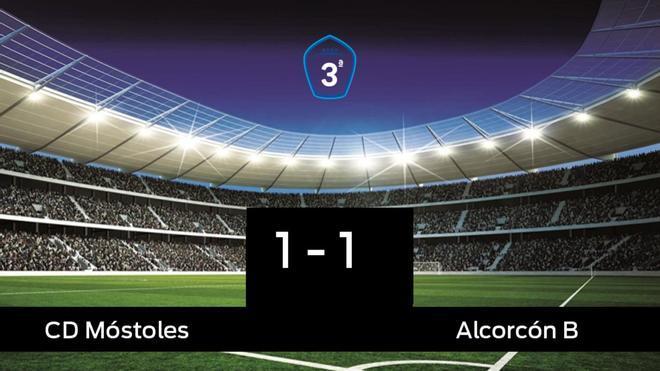 Reparto de puntos entre el Móstoles y el Alcorcón B, el marcador final fue 1-1
