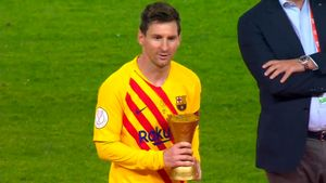 Leo Messi, MVP de la final de Copa ante el Athletic Club