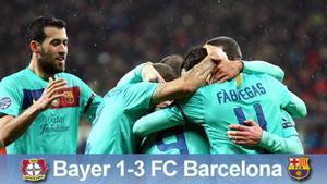 El Barça logró una victoria merecida ante el Bayer Leverkusen