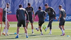 Así ha sido el entrenamiento del Atlético de Madrid