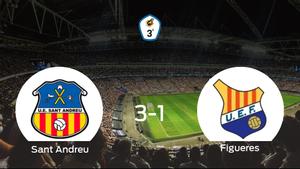 El Sant Andreu gana 3-1 al Figueres y se lleva los tres puntos