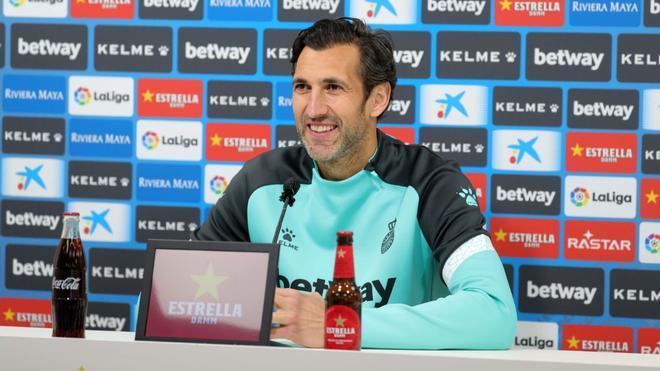 Diego López, en rueda de prensa
