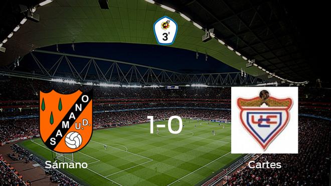 El Sámano logra una ajustada victoria en casa frente al UC Cartes (1-0)