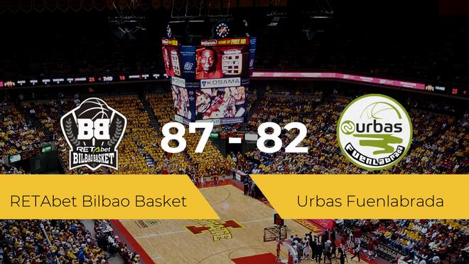 El RETAbet Bilbao Basket logra vencer al Urbas Fuenlabrada (87-82)