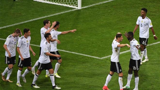 Alemania pasó a la final de la Confederaciones con facilidad