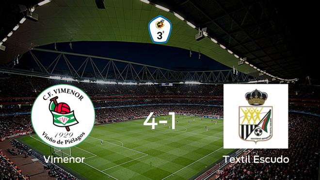 El CF Vimenor suma tres puntos tras pasar por encima del SD Textil Escudo (4-1)