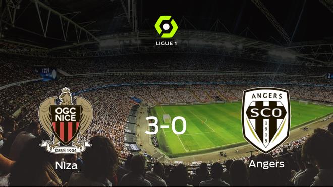 Tres puntos para el casillero del OGC Niza tras golear al SCO Angers (3-0)