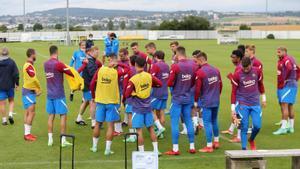 Las mejores imágenes del entrenamiento de hoy del Barça