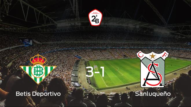 El Betis Deportivo consigue la victoria frente al At. Sanluqueño (3-1)