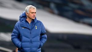 José Mourinho en el encuentro ante el Ludogorets