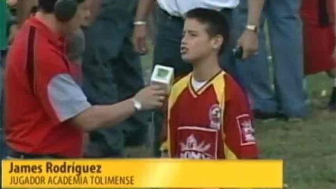 Estas eran las palabras de James Rodríguez con 10 años
