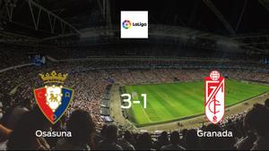 Win for Osasuna at Estadio El Sadar, as they beat Granada 3-1