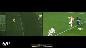 El gol anulado a Smith Rowe ante el Slavia de Praga