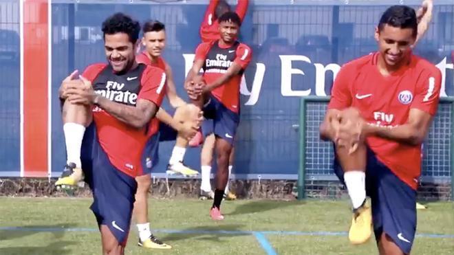 Dani Alves ya se entrena con el PSG
