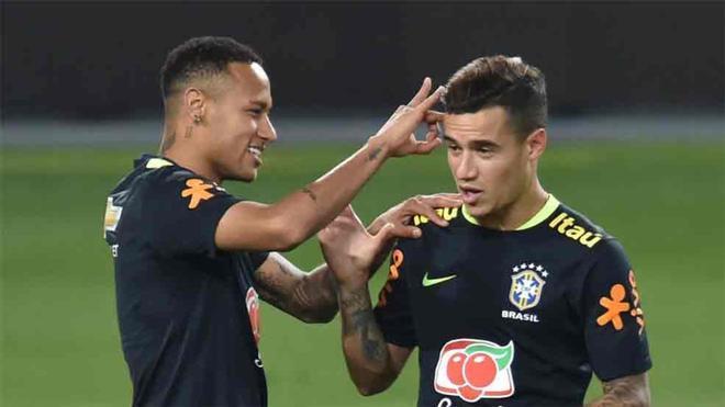 Neymar y Coutinho solo compartirán vestuario en la Seleçao