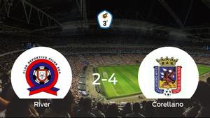 El Corellano gana 2-4 al River Ega y se lleva los tres puntos