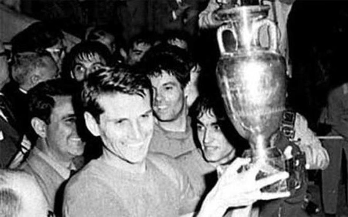 Facchetti fue el capitán de la selección italiana en la Eurocopa de 1968