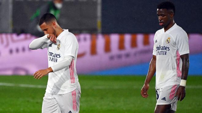 Vinicius y Hazard aportan muy poco al ataque del Real Madrid