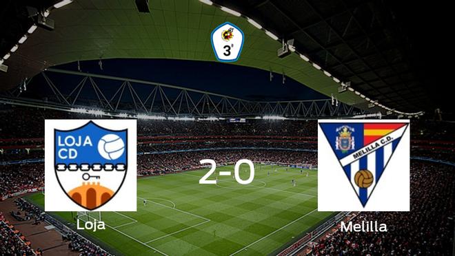 Tres puntos para el equipo local: Loja 2-0 Melilla CD