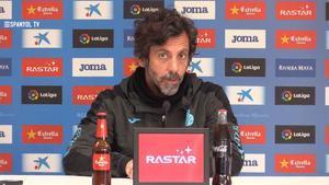 Quique Sánchez Flores, durante una conferencia de prensa