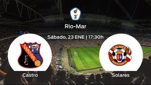 Jornada 13 de la Tercera División: previa del encuentro Castro - Solares