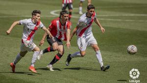 Partido sin goles entre el Logroñés y el Rayo Vallecano
