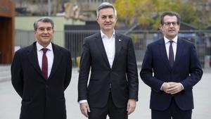 Laporta, Font y Freixa, los tres candidatos a las elecciones del Barça