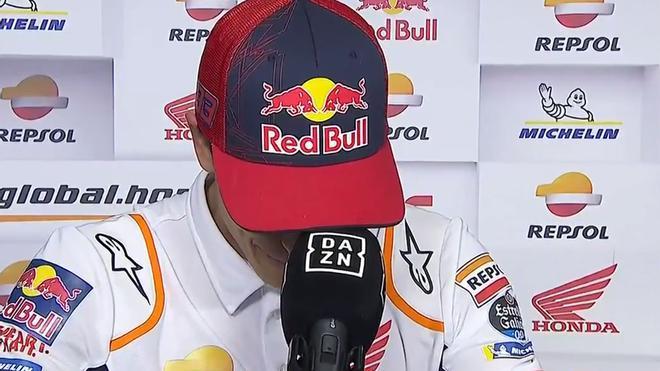 Márquez rompió a llorar en plena entrevista