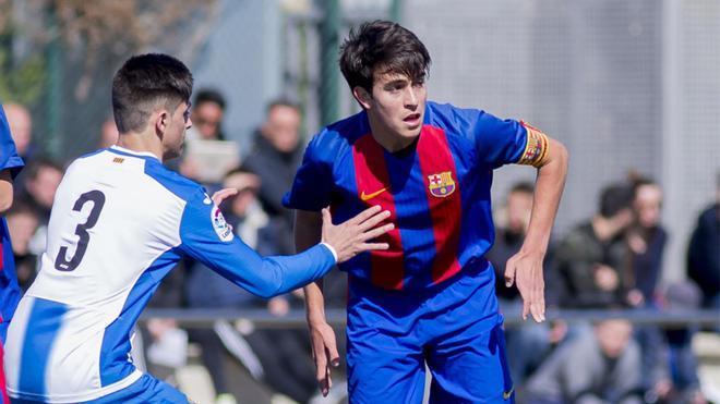 El central Eric Garcia en un partido ante el Espanyol