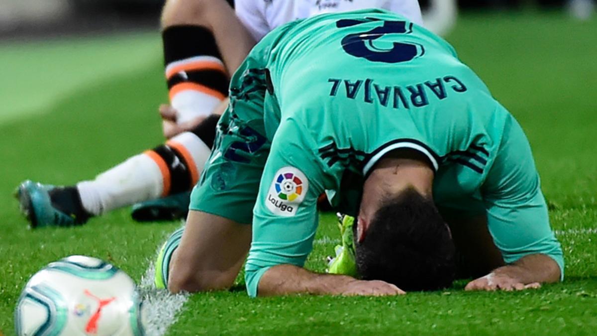 Carvajal se lesionó en Mestalla