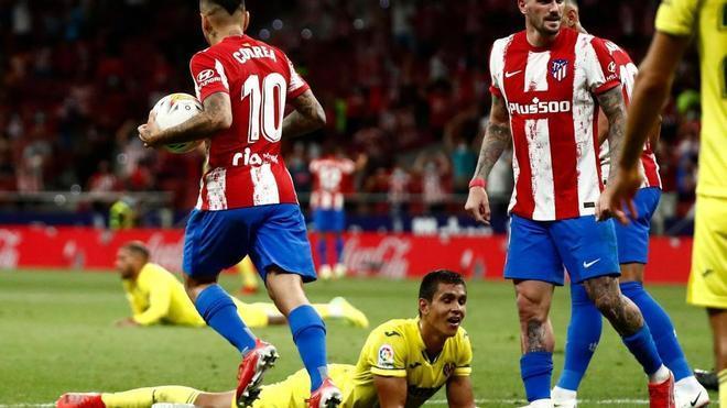 Un tardío gol del Atlético de Madrid le impidió al Villarreal sumar su primera victoria de la temporada