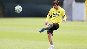 El Barça se ha ejercitado este miércoles con la novedad de la vuelta de Lenglet