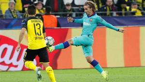Griezmann no atinó a marcar en Dortmund