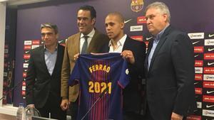 Albert Soler, Josep Ramon Vidal-Abarca, Ferrao y Txus Lahoz, durante la rueda de prensa