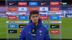 Coutinho: Estamos muy lejos del Atlético, pero esto es muy largo