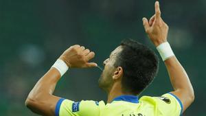 Ángel doblegó al Krasnodar con un doblete