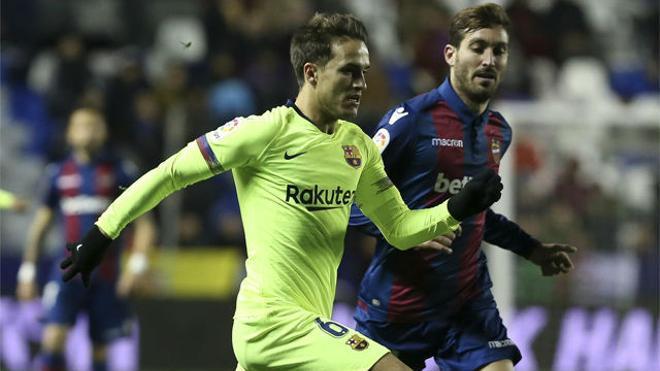 La gran jugada individual de Denis que terminó en penalti a favor del Barça