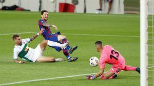 Edgar Badia se midió con Messi en el Gamper, pero no lo hará en Elche