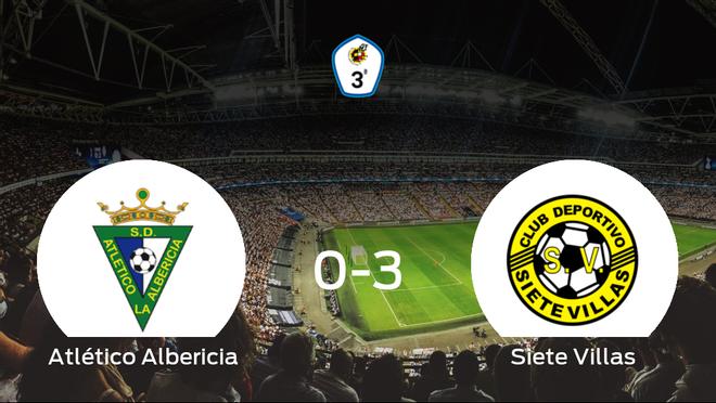 El Siete Villas suma tres puntos tras pasar por encima del Atlético Albericia (0-3)