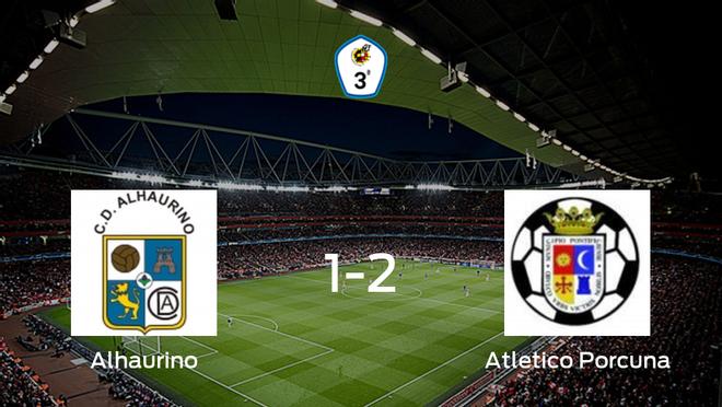 El Atletico Porcuna se queda con los tres puntos tras vencer 1-2 al Alhaurino