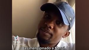 Parece que a Etoo no le sentó bien está afirmación cuando le preguntaron por Messi...
