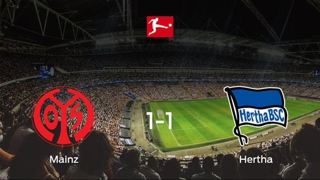 Reparto de puntos en el Opel Arena: Mainz 051-1 Hertha Berlín