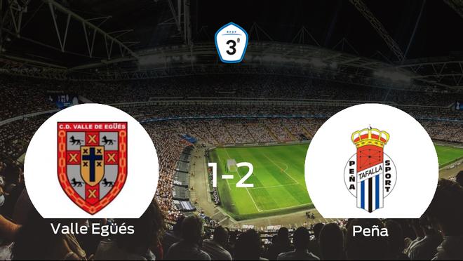 La Peña Sport doblega al Valle Egüés por 1-2