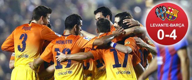 El Barça venció al Levante con cuatro goles tras el descanso