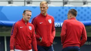Rooney, en el entrenamiento de Inglaterra